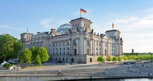 The Reichstag with the famous glass dome is one of the most frequently visited sights in Berlin