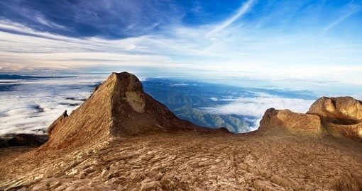 St Johns peak at Mount Kinabalu Borneo