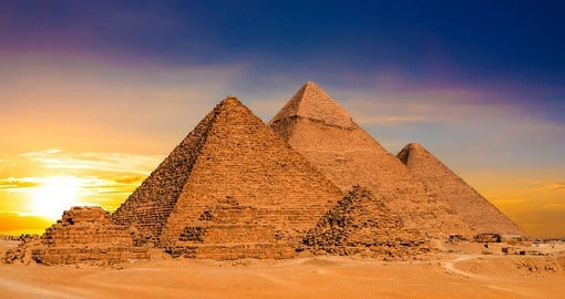 The Great Pyramids of Giza are a defining symbol of Egypt and the last of the ancient Seven Wonders of the World