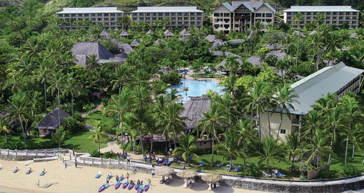 Aerial view of the Outrigger Fiji Beach Resort