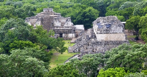 Maya city of Ekbalam. Mexico