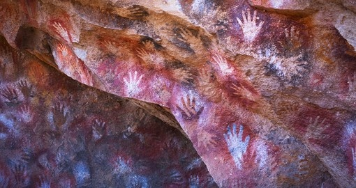 Cave paintings in the Cueva de las Manos