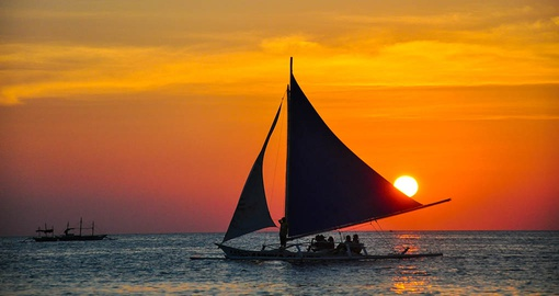 Experience a stunning sunset in Boracay on your Philippines vacation