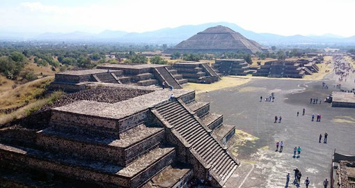 The Pyramid of the Sun is the largest structure in the ancient city of Teotihuacan