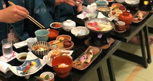 Enjoy seafood from the Sea of Japan and the Pacific Ocean in Takayama