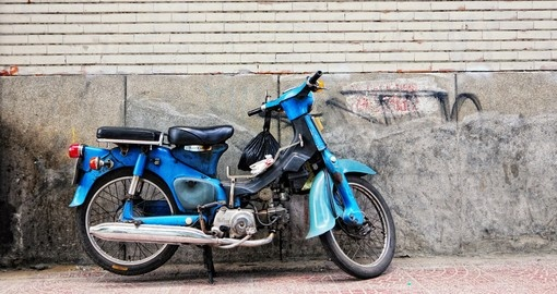 An old Honda motorbike