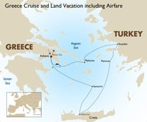 Greece Cruise and Land Vacation including Airfare