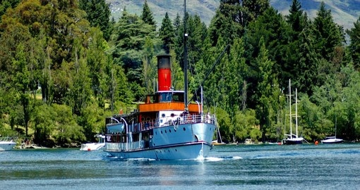 Cruise on Lake Wakatipu aboard the TSS Earnslaw during your New Zealand Vacation