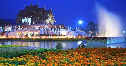 The Royal Flora temple is a great photo opportunity on your Thailand vacation.
