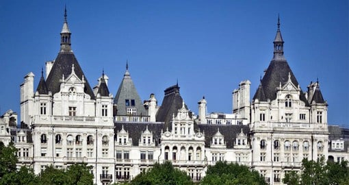 Modelled on a French Chateau, The Royal Horseguards Hotel was built in 1884