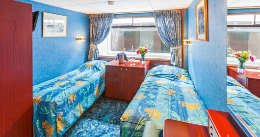 The Cabin on the MS Victor Hugo.