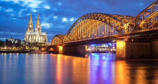 Founded by the Romans in 38 BC, Cologne is renown for it's magnificent Gothic Cathedral