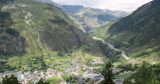 The beautiful mountain landscapes in Andorra