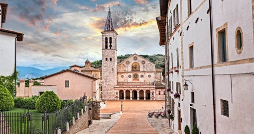Located at the foot of the Apennine hills, Spoleto dates from the 2nd century