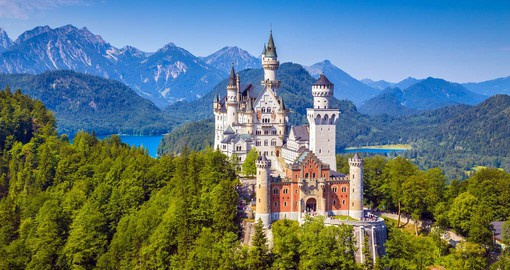 Iconic Neuschwanstein, a feature stop on your Germany vacation package