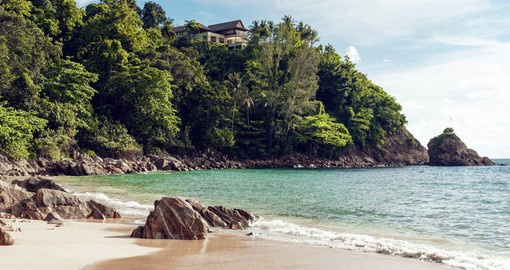 The tranquil beach at The Pavilions Phuket