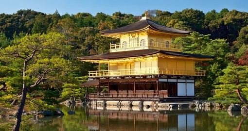 Kinkakuji Temple - The Golden Pavilion is a popular photo opportunity while on your Japanese vacation.