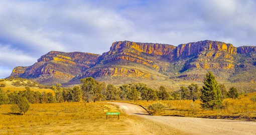 The rugged, weathered peaks of the Flinders Ranges form some of the most dramatic landscapes in Australia
