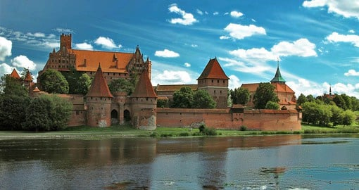 Malbork is the most complete and elaborate example of a Gothic brick-built castle