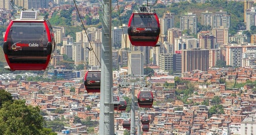 Save some time and ride the Teleferifico on yoru Bolivia Tour