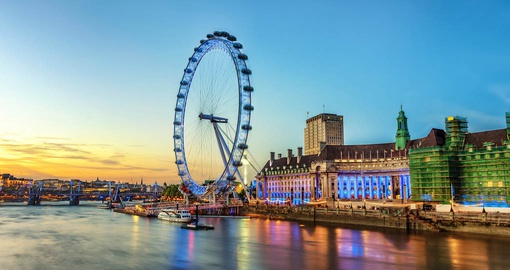 Take a ride on the London Eye during your trip to England