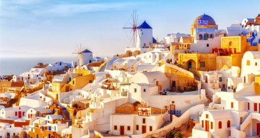 Discover Skyline of Oia on Santorini on your next Greece tours.