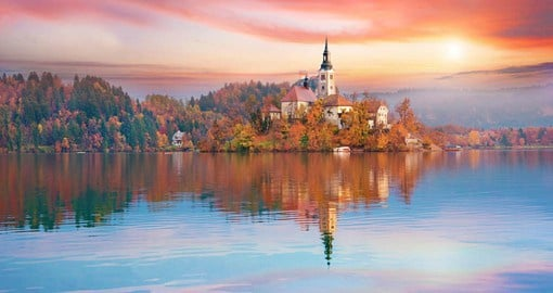 Bled is Slovenia's most popular resort, with a cobalt blue lake and picturesque church