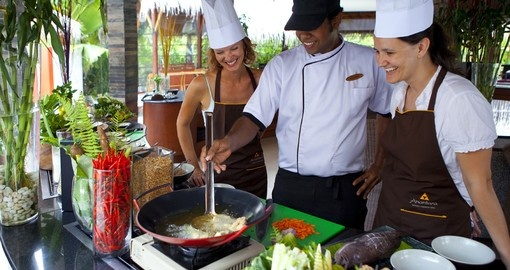 Learn how to cook authentic local dishes with trained chefs on your Maldives Vacation
