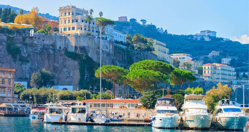 Perched atop cliffs, Sorrento faces the Bay of Naples