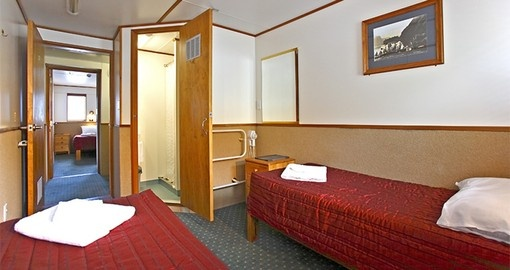Explore all the amenities of the vessel during your cruise on your next New Zealand vacations.