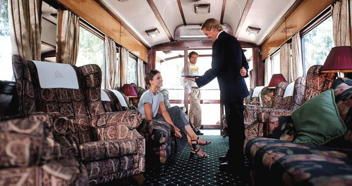 Experience this luxurious train ride on the Rovos Rail during your next Tanzania vacations.