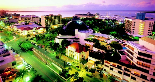 Experience the gorgeous view of Cairns at night during your next Australia tours.