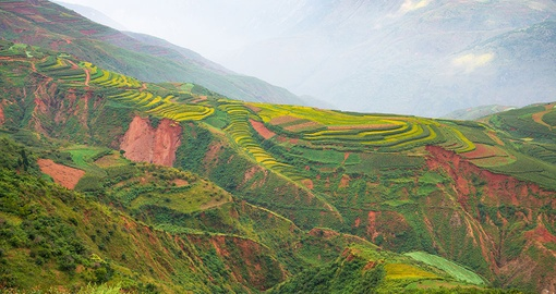 Enjoy the rich colours of the Dongchuan landscape on your China Tour