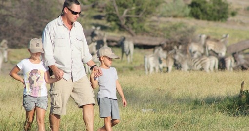 Enjoy Family walking safari on your next Botswana vacations.