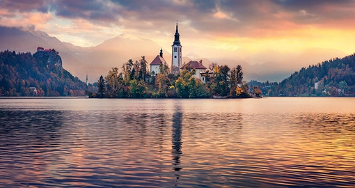 Visit beautiful Lake Bled on your trip to Slovenia