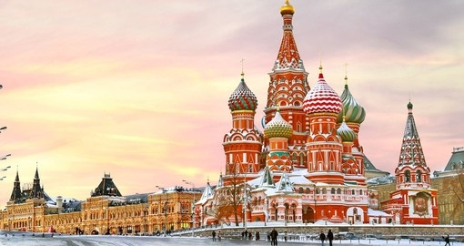 St. Basil's Cathedral in winter