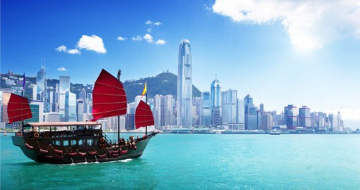 Coast through Hong Kong Harbour and enjoy the crystal clear water on your Hong Kong Vacation