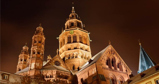 Mainzer Dom in the old town of Mainz, Germany