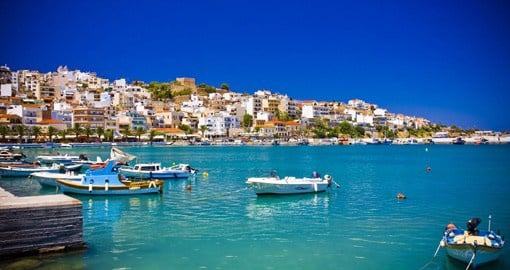 Explore the port of Sitia, Crete or go shopping in the many stores that dot the streets on your Greece Vacation