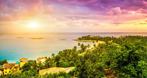 Turquoise waters and palm-lined beaches make Unawatuna one of Sri Lanka`s top destinations