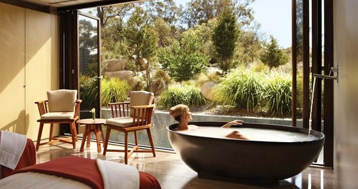 Experience Saffire Freycinet Spa during your next trip to Australia.