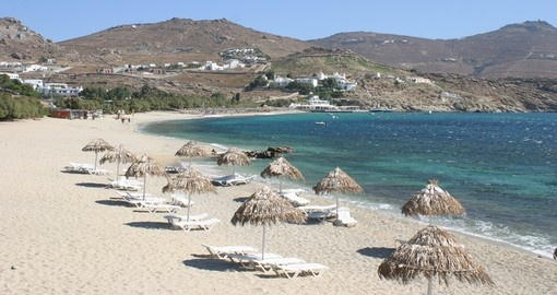 Visit Kalafati beach in Mykonos during your trip to Greece.