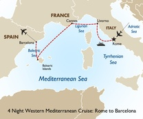 4 Night Western Mediterranean Cruise