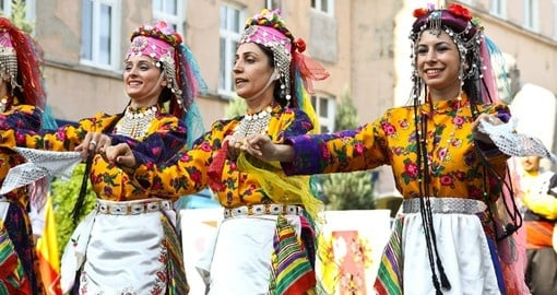 Folklore dancing is popular in Turkey