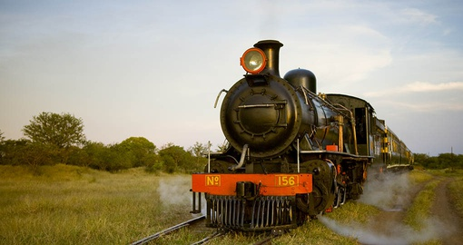 Have train ride on this amazing The Royal Livingstone during your next Zambia vacations.
