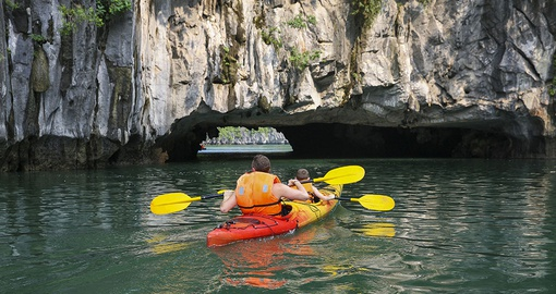 Experience Kayaking in Halong Bay during your next trip to Vietnam.