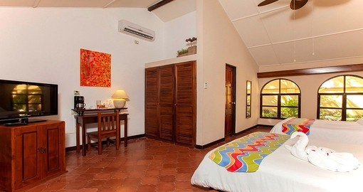 Stay in a standard room at the Bahia del Sol Beach Front Hotel and Suites during your Costa Rica vacation.