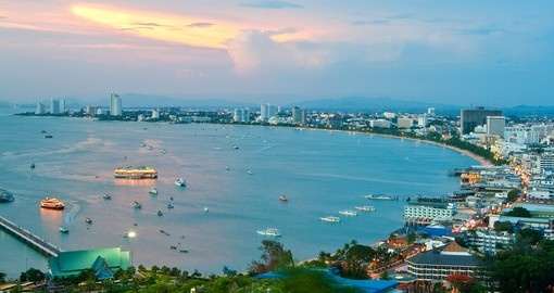 Pattaya gulf in twilight