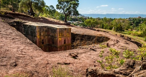 The Church of St. George is a great photo stop while on your Ethiopia vacation.