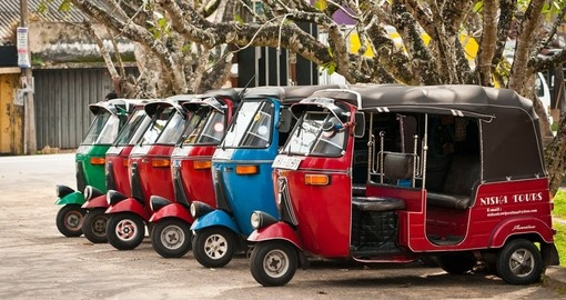 Tuk-tuks are a popular mode of transport in Colombo